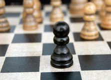 Lonely Pawn Royalty Free Stock Photography