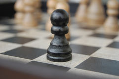 Lonely Pawn Royalty Free Stock Images