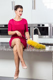 Lonely perfect housewife Royalty Free Stock Photos