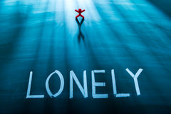 Lonely person concept Stock Photo