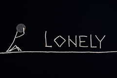 Lonely person, desperate person, unusual concept. Stock Image