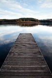 Lonely Pier. A pier on Loch Ard in the Highlands of Scotland royalty free stock images