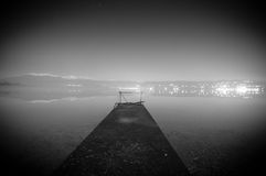 Lonely pier Royalty Free Stock Images
