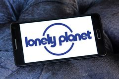 Lonely Planet logo. Logo of Lonely Planet on samsung mobile. Lonely Planet is the largest travel guide book publisher in the world royalty free stock image