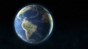 Lonely planet in space. Video of lonely planet in space stock footage