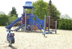 Lonely playground - Kids need to get more active Royalty Free Stock Photography