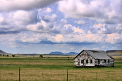 Lonely Prarie House Royalty Free Stock Photography