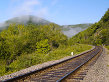 Lonely Railway Track Royalty Free Stock Photo