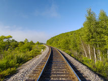 Lonely railway track Royalty Free Stock Image