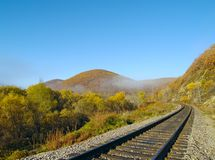 Lonely railway track Stock Images