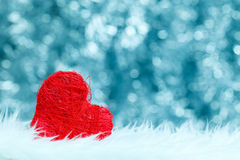 Lonely red heart Royalty Free Stock Photo