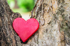 Lonely red heart Royalty Free Stock Images