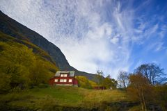 Free Lonely Red House In Rural Farm Royalty Free Stock Photography - 4048987