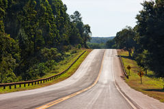 Lonely Road in Argentina Royalty Free Stock Photos