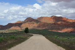 Lonely road in Arizona, USA Royalty Free Stock Image