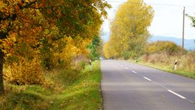Lonely road in autumn. Lonely colorful road in autumn Stock Image