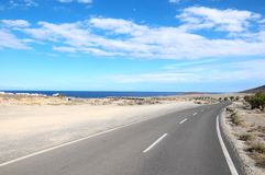 Lonely Road Royalty Free Stock Photos