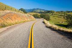 Lonely road in the foothills of the sierra nevada Stock Image