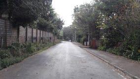 Lonely road. Nairobi grey skies Stock Photo