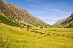 Lonely road near Glencoe - Scotland, UK Royalty Free Stock Photos