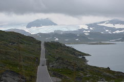 Lonely road. Norway. Scenic road RV55 royalty free stock photos
