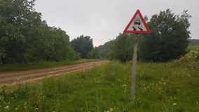 Lonely road sign royalty free stock photography
