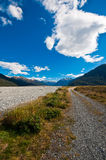 Lonely road in South Island Royalty Free Stock Photos