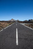 Lonely road in tenerife Royalty Free Stock Images