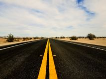 Lonely Road to Brawley California. Westbound Highway 78 near Brawley Royalty Free Stock Image