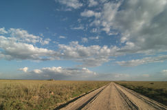 A lonely road track royalty free stock photos
