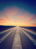 Lonely Road wth Instagram Effect Stock Image