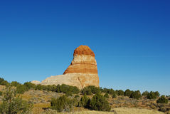 Lonely rock formation, Arizona. Lonely rock formation between Page and Kaibito, Arizona Stock Photography