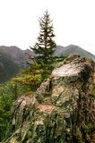 Lonely rock in the mountainside Stock Photo