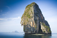 Rock at a beach near Krabi, Thailand Stock Photography