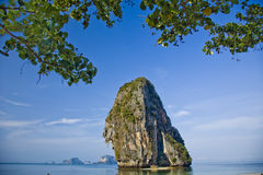 Rock at a beach near Krabi, Thailand. Lonely Rock at a sandy beach near Krabi, Thailand Royalty Free Stock Images