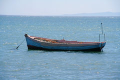 Lonely rowing boat / fisherboat Royalty Free Stock Photo
