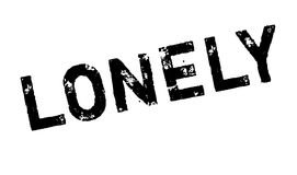 Lonely rubber stamp Royalty Free Stock Photos