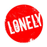 Lonely rubber stamp Royalty Free Stock Image