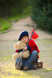 Lonely sad child. Sad lonely unhappy child concept Royalty Free Stock Photos