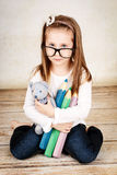 Lonely and sad little girl Royalty Free Stock Photo