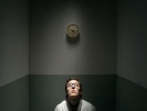 Lonely sad nerd guy Royalty Free Stock Image