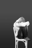 Lonely, Sad or in Pain beautiful young woman Royalty Free Stock Image