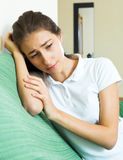 Lonely sad teen girl Royalty Free Stock Images