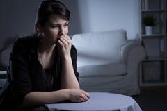 Lonely sad widow Stock Image