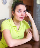 Lonely and sad woman Royalty Free Stock Photos