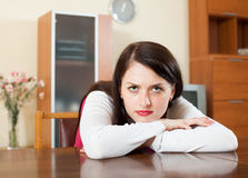 Lonely sad  woman Stock Photo
