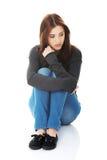 Lonely sad woman Royalty Free Stock Photos