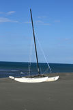 Lonely Sail Boat Stock Images