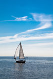 Lonely Sail boat on the Sea Royalty Free Stock Image