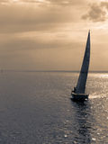 Lonely sailboat Royalty Free Stock Photos